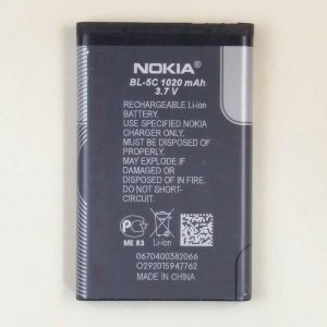 nokia bl5c battery backside